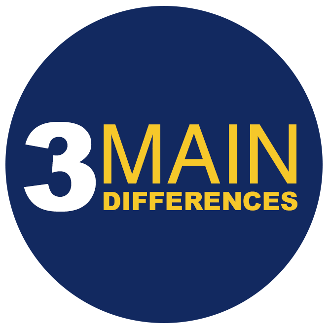 3 main differences
