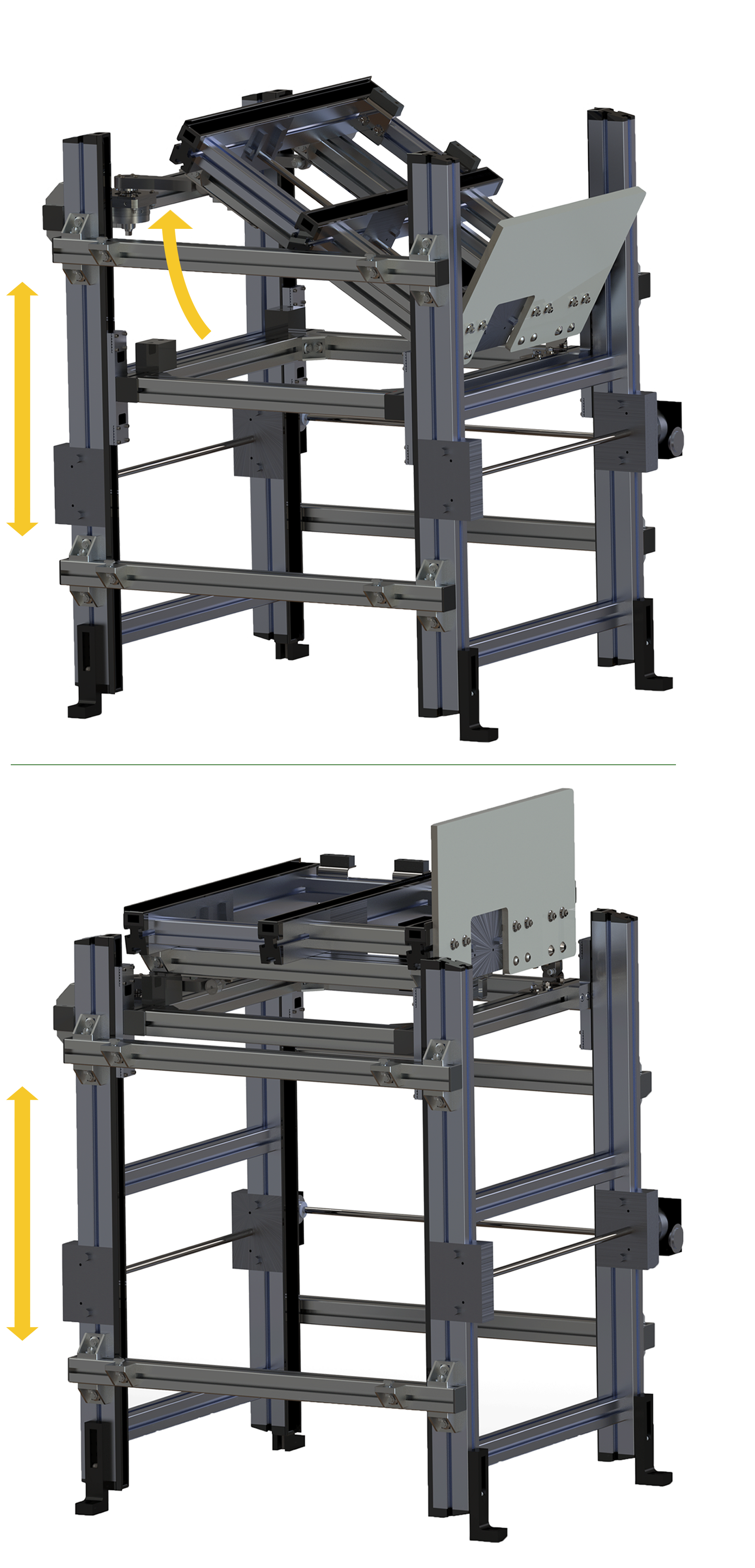 Tilting Deck Vertical Transfer Unit