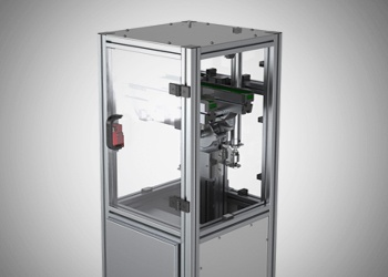 Pneumatic vertical transport unit from Glide-Line.