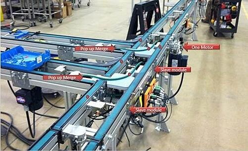 Slave driven conveyor with notes