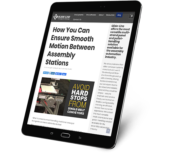 How You Can Ensure Smooth Motion Between Assembly Stations - tablet
