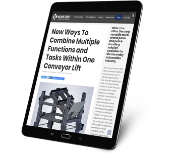 New Ways To Combine Multiple Functions and Tasks Within One Conveyor Lift - tablet