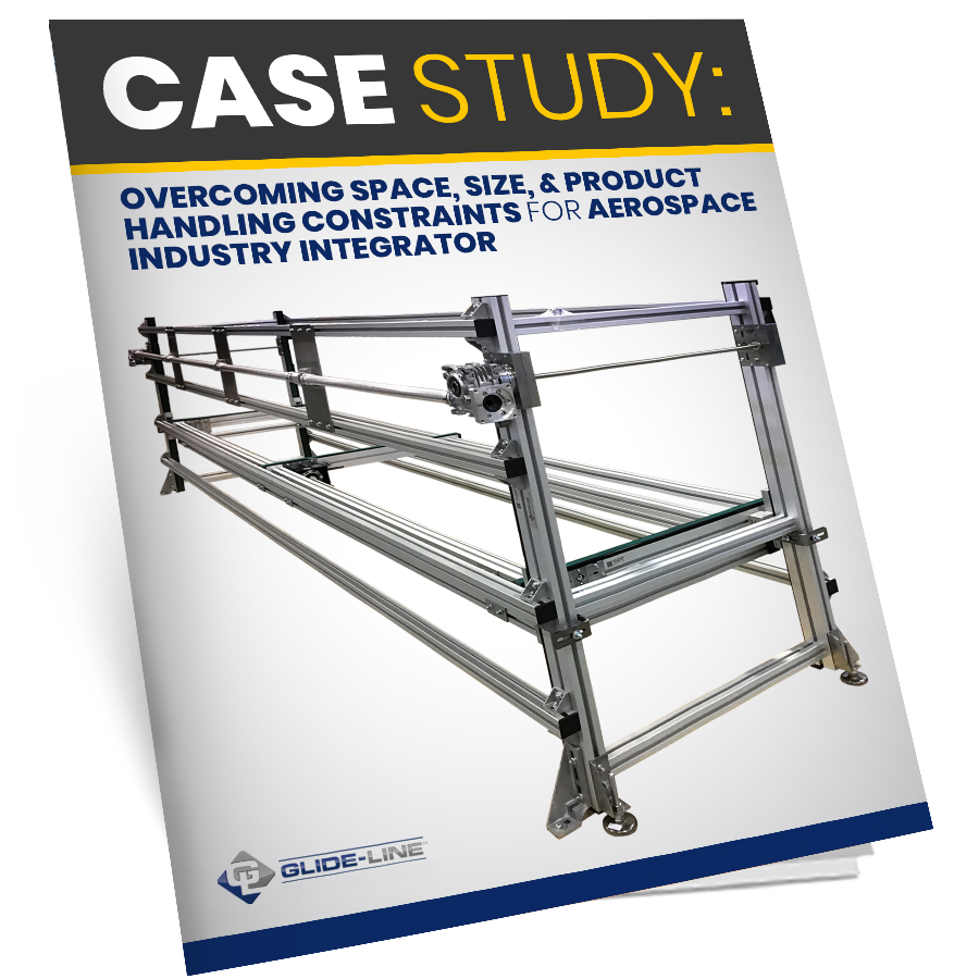 Case Study- Flexible Conveyor Manufacturer  Glide-Line Overcomes Space, Size, & Product Handling Constraints for Aerospace Industry Integrator - Mock