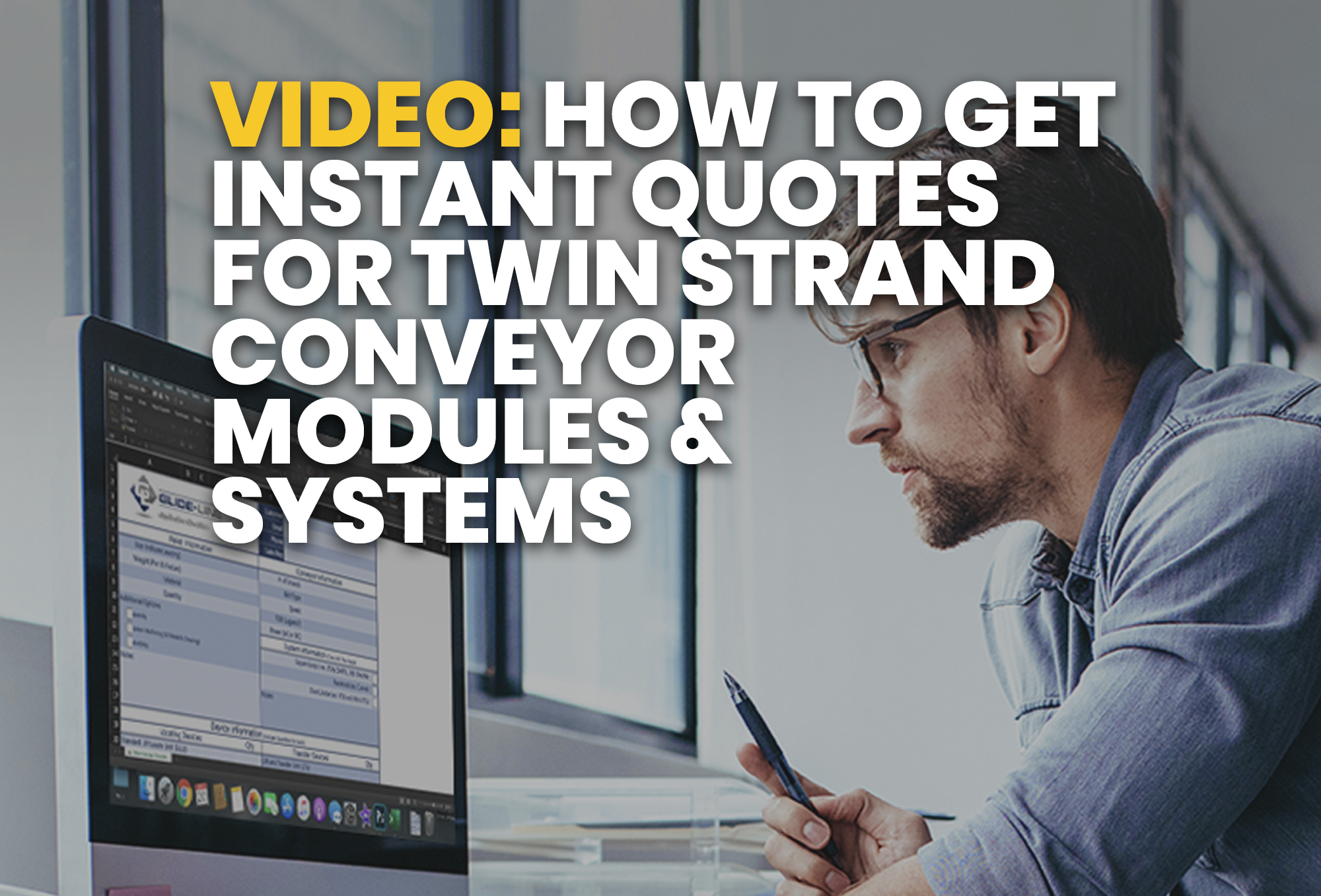 video- How To Get Instant Quotes For Twin Strand Conveyor Modules & Systems