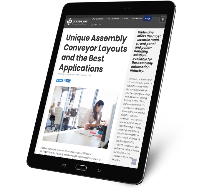 Unique Assembly Conveyor Layouts and the Best Applications - tablet