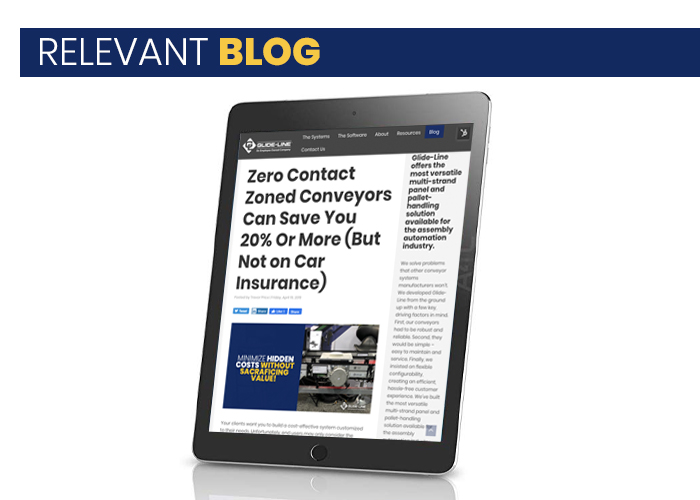 Blog - Zero Contact Zoned Conveyors Can Save You 20% Or More - CSG