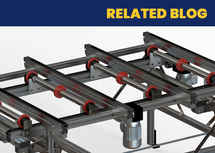 Support Large Thin Panels Throughout Automation with the Roller Lift Transfer Unit - Twin