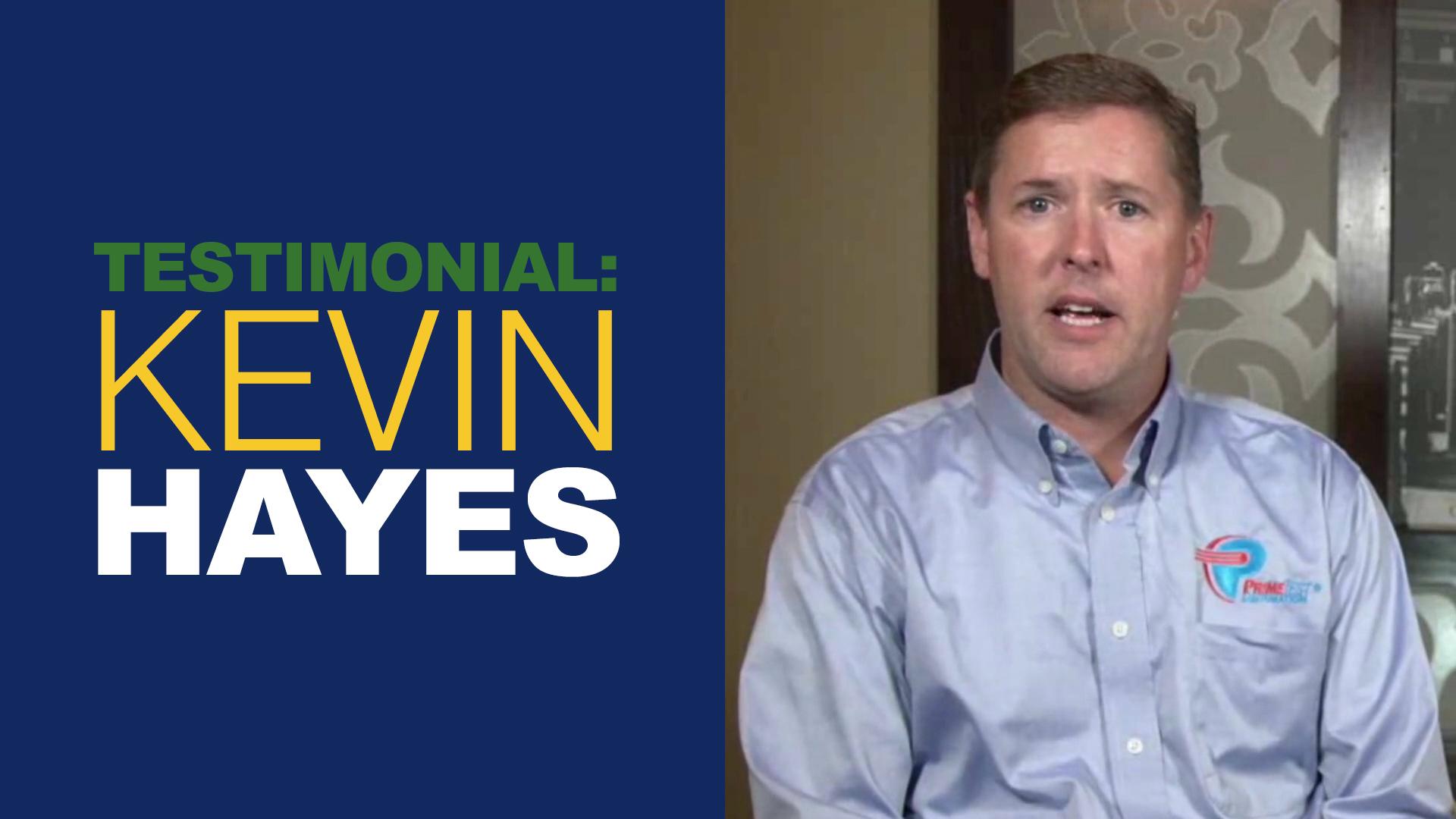 Testimonial Kevin Hayes